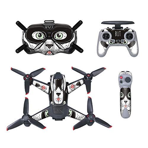 DJFEI FPV Combo Drone Skin, Set Completo di Adesivi per Drone e Controller, FPV Combo Drone Adesivi Decalcomanie Pelle PVC Set Completo di Copertura per DJI FPV Combo Drone (B)