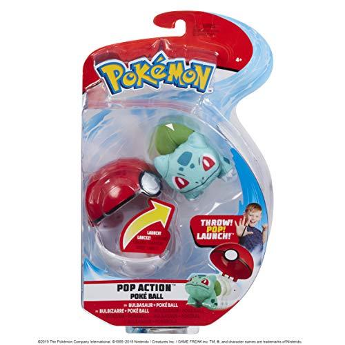 PoKéMoN 95104 Pokémon POP Action Poke Ball (Bulbasaur), Mehrfarbig