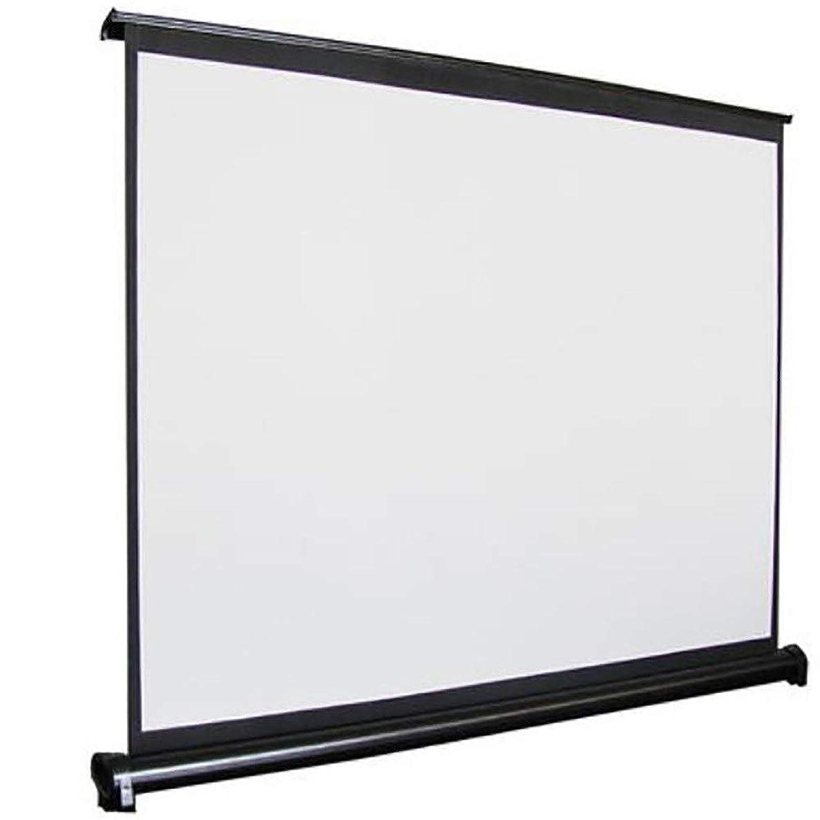 意外寛容なローズ投影スクリーン 50インチの16:9と4:3ポータブル高精細画面マイクロモバイルスクリーンプロジェクタースクリーン 軽量で実用的 (色 : 白, Size : 111X62cm)
