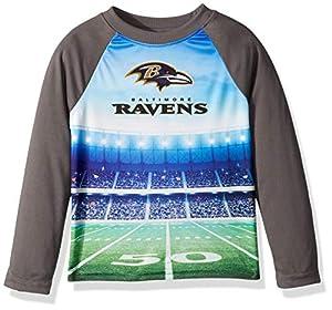 NFL Baltimore Ravens Unisex Long-Sleeve Tee, Gray, 4T