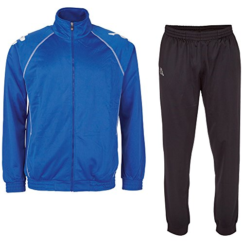 Kappa Ephraim, heren joggingpak, klassiek trainingspak bestaande uit jas en broek, sportpak met steekzakken, maat S-XXL