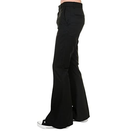 47995f38a9e766 Run & Fly Mens 60s 70s Presley Vintage Black Bell Bottom Trousers