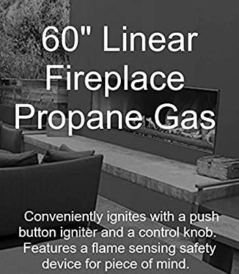 "Empire Comfort Systems Outdoor 60"" Stainless Steel Manual Ignition Linear Fireplace - Propane"