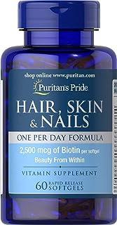 Puritan's Pride Hair, Skin & Nails One Per Day Formula - 60 Softgels