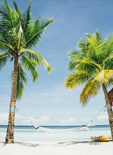 Malen Nach Zahlen DIY Coconut Tree Hängematten-Kit Erwachsene Kinder Anfänger DIY Leinwand Nach Zahlen Home Decoration 40X50Cm (Rahmenlos)