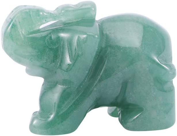 TALKYOU Los Angeles Mall 1Pc Aventurine Carved Elephant J Green Hand Lucky Ranking TOP16