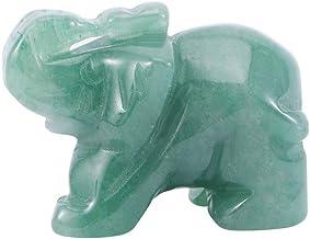 مينليا منحوت يدويًا من أفينتورين أخضر طبيعي منحوتة، ديكور منزلي أخضر للمكتب، حجر اليشم