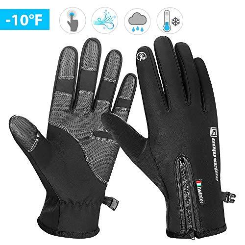 AODOOR Touchscreen Handschuhe, Fahrradhandschuhe Männer Winter Sport Touchscreen Motorrad Frauen Gefüttert Laufhandschuhe für Radfahren, Motorradfahren, Wandern und andere Outdoor-Aktivitäten