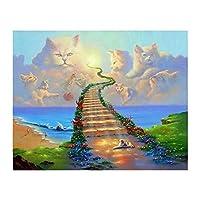 ジグソーパズル大人のための2000ピース家の装飾のための雲猫のアートワーク、オフィスの壁の装飾の絵画、ギフト