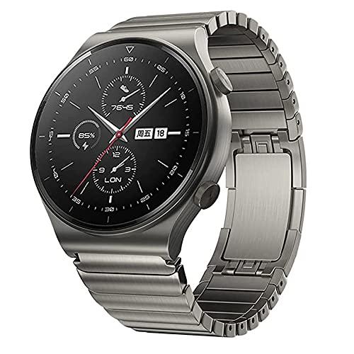 VeveXiao Pulsera compatible con Huawei Watch GT 46mm/GT2 Pro/GT2 46mm/Porsche, 22mm de acero inoxidable, correa de repuesto para Samsung Galaxy Watch 46mm/Galaxy Watch 3 45mm/Gear S3 (gris titanio)