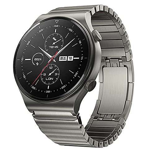 VeveXiao Correa compatible con Huawei Watch GT 46 mm/GT2 Pro 46 mm/GT2 46 mm/Porsche/ECG Series/Galaxy Watch 46 mm/Galaxy Watch 3 45 mm/Gear S3, 22 mm de malla de acero inoxidable de repuesto (gris)
