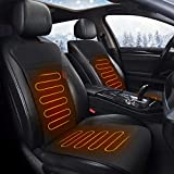 Audew Heated Car Seat Cushion, DC 12V Heated Car Seat Cover with Intelligent Temperature Controller & Timer Setting, Winter Universal Car Seat Heater for Full Back and Seat
