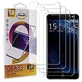 Guran 4 Paquete Cristal Templado Protector de Pantalla para Bluboo D1 Smartphone 9H Dureza Anti-Ara?azos Alta Definicion Transparente Película