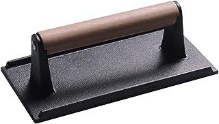 肉プレス 肉おさえ ミートプレス 木製ハンドル ステーキ 鉄板焼き 焼き肉 バーベキュー BBQ適用 キッチンツール 調理用品