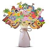 AIBAOBAO Hawaiana DIY Photo Booth Props, Cumpleaños Cabina de Fotos Accesorios, Flamenco photocall Accesorios Decoracion, Fiesta Boda, Hawaiano Beach Pool Parties, Verano Playa Fiesta Piscina (36 pcs)