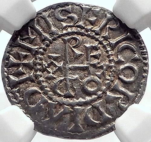 1000 FR 887AD FRANCE Carolingian King ODO Eudes AR Denier coin AU 58 NGC