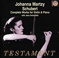 Schubert: Complete Works for Violin & Piano by Johanna Martzy (2011-06-14)