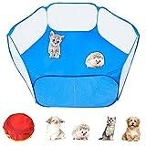 FGen Tienda de jaulas de Animales pequeños, Cerca portátil para Mascotas,Transparente y Transpirable, Adecuado para erizos, Cachorros, Gatos, Conejos, cobayas, Ardillas