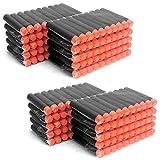 MCTECH 200 Stück Soft Dosenwerfen SetfürDart Nerf Ziel für Nerf N-Streik Elite Blasters für Kinder Spielzeug Gun Soft Bullet (type A, schwarz)