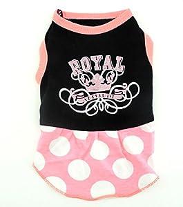 """Smalllee_Lucky_Store Sweat shirt à capuche pour chien Inscription en anglais """"Spoiled Princess"""" Rose"""