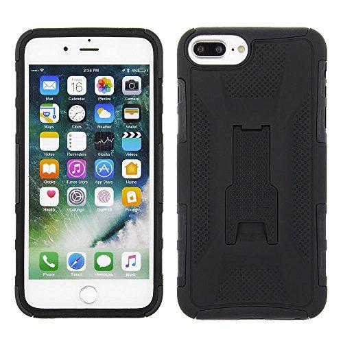 Cube Apple iPhone 8 Plus/7P/6S P/6P, Schwarzes PC-Cover mit schwarzer TPU-Hülle