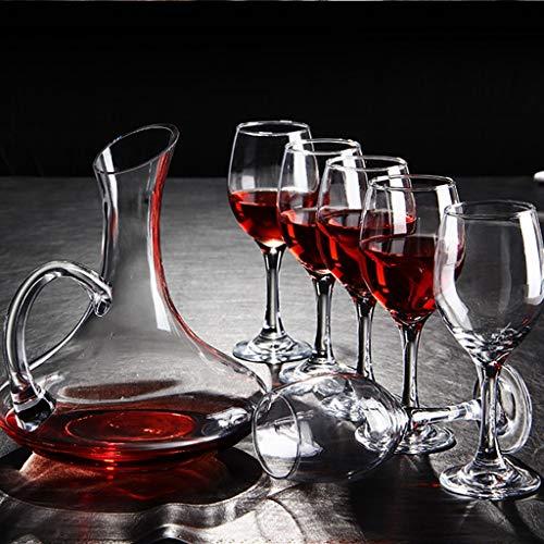 Ensemble Carafe Vin Rouge De Haute Qualité | Carafe Vin Aérée En Verre Sans Plomb | Cadeau Parfait 3 Pièces (taille : 6 wine glasses)