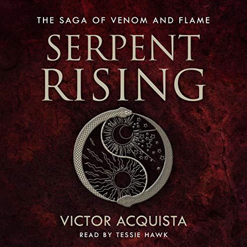 Diseño de la portada del título Serpent Rising