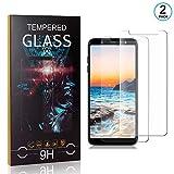 Ramcox Displayschutzfolie für Samsung Galaxy J6 2018, 9H Härte Anti Fingerprint Displayschutz, 3D Touch Schutzfilm aus Gehärtetem Glas, 2 Stück -