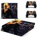 Film Ghost Rider Ps4 Autocollant de Peau pour Console Dualshock Playstation 4 et 2 Peaux de contrôleur Ps4 Autocollants Vinyle