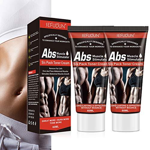 Hot Cream Fat Burner, 2Pack Cellulite Belly Fat Burning Fat Sweat Cream for Abdominal Muscles Growth, Sweat Workout Enhancer Gel Tighten Buttocks Thighs Legs Slimming Cream for Men Women
