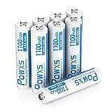 POWXS 単四電池 充電式電池 高容量1100mAh ニッケル水素電池 約1500回使用可能 ケース2個付き8本入り 低自己放電 液漏れ防止 単4電池 充電池 単4 単四充電池 電池単四 単4電池 充電式 電池充電 単四電池 充電式