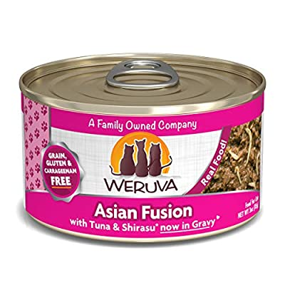 Weruva Classic Cat Food, Asian Fusion With Tuna Red Meat & Shirasu In Aspic, 3Oz Can (Pack Of 24)