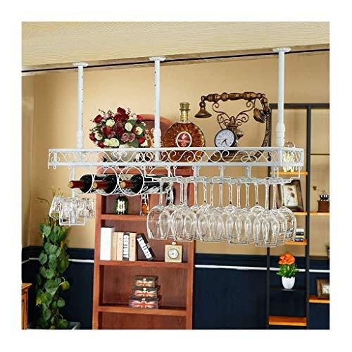 Yxsd Titular De Vidrio De Alta Barra De Bar, Vino Gabinete Creativa Decoración Decoración De La Percha, Colgando Titular De La Taza De Vino Tinto Europeo, Al Revés Botellero