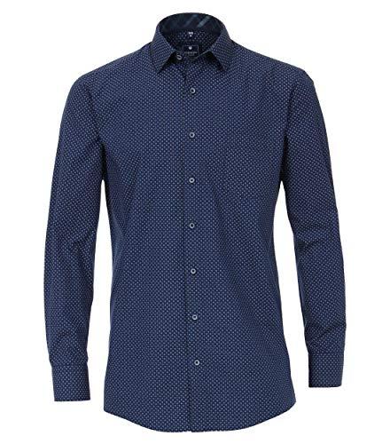 Redmond Herren Hemd mit modischem Druck Regular Fit 100% Baumwolle