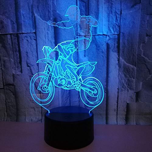 Mehrere Farben Spezialeffekte Offroad-Motorrad 3d Licht bunte Berührung führte Vision Licht Geschenk tive kleinen Tisch führte Nachtlicht