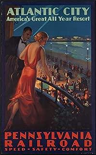 SAVA 200303 Pennsylvania Railroad Travel Atlantic City Decor Wall 36x24 Poster Print