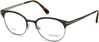 Tom Ford Eyeglasses FT5382 009 Brown/Gunmetal 50MM