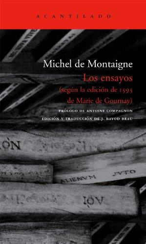Los ensayos: según la edición de 1595 de Marie de Gournay: 153 (El Acantilado)