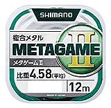 シマノ(SHIMANO) メタルライン METAGAME II 12m 0.08号 ブルー ML-A12P 釣り糸