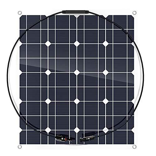60W Solarmodul Solarpanel Monokristallin Solarzelle Photovoltaik Solarladegerät Solaranlage mit MC4 Ladekabel für Laden von Camping-Auto-Boote