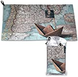 Tarjeta de Barco Pirata Toallas de Playa de Microfibra Toallas de Playa de Secado rápido de Gran tamaño Gimnasio Playa Natación Manta de Picnic