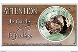 Panneau chien ou plaque Dogue-allemand-Bleu 20 cm