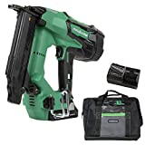 Metabo HPT Cordless Brad Nailer Kit | Unique Air Spring Drive System | 18V Brushless Motor | 18 Gauge | 5/8' to 2' Brad Nails | Compact 3.0 Ah Lithium Ion Battery | Lifetime Tool Warranty (NT1850DES)