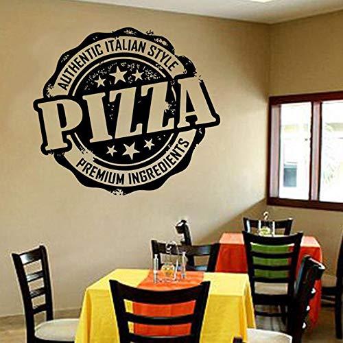 fdgdfgd Stickers muraux Pizza Pâtes Cuisine Italienne Restaurant Décoration Murale Fenêtre Porte en Verre Vinyle Autocollant Art ~ Très approprié pour Chambre, Salle de Classe, Salon, Bureau