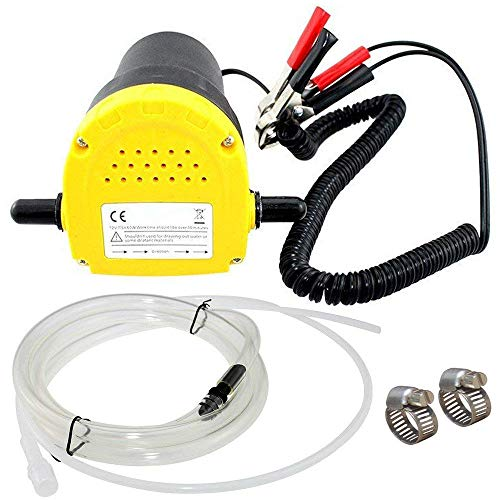 TOPEMAI 12V 60W Oil Diesel Fluid Pump Extractor Scavenge Suction Transfer Pump for Auto Car Boat Motorbike Truck RV ATV Jet with Hose - Engine Oil Change Pump,ATV Oil Change Pump