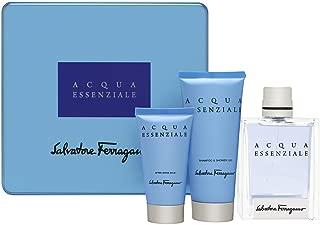Salvatore Ferragamo Acqua Essenziale Coffret: Eau De Toilette Spray 100ml/3.4oz + After Shave Balm 50ml/1.7oz + Shower Gel 100ml/3.4oz 3pcs