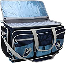 OSAGE RIVER X-Large Saltwater Resistant Fishing Tackle Bag, Heavy-Duty Organizer, Waterproof Bottom, Tackle Boxes Included, Navy