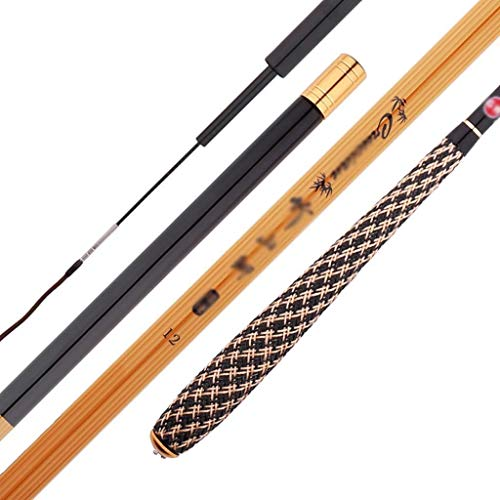 Canna da Pesca a Mano in bambù - Manico per Maglieria/Attrezzatura da Pesca, Canna da Pesca telescopica in Carbonio. Carpa Portatile Ultraleggera (Dimensioni : 4.5m)