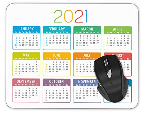 Colorful Year 2021 Calendar Mouse pad Gaming Mouse pad Mousepad Nonslip Rubber Backing