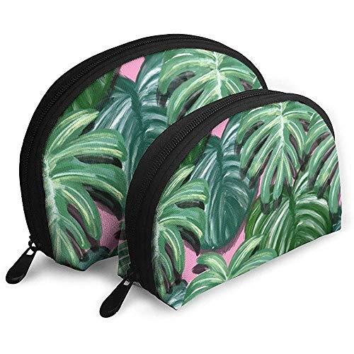 Aquarell Blatt tropischen Dschungel tragbare Taschen Make-up Kulturbeutel Multifunktions tragbare Reisetaschen kleine Make-up Clutch